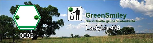Green Smiley Banner Ladybird68