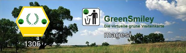 Green Smiley Banner magesi